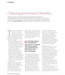 Claiming government benefits