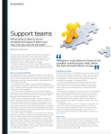 Support teams